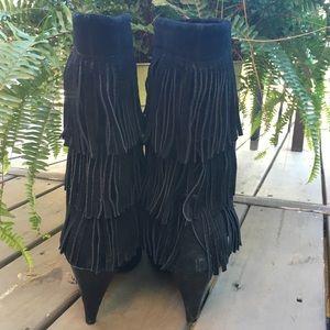 Chinese Laundry Shoes - Chinese Laundry Kipp Fringe Suede Boho Boots